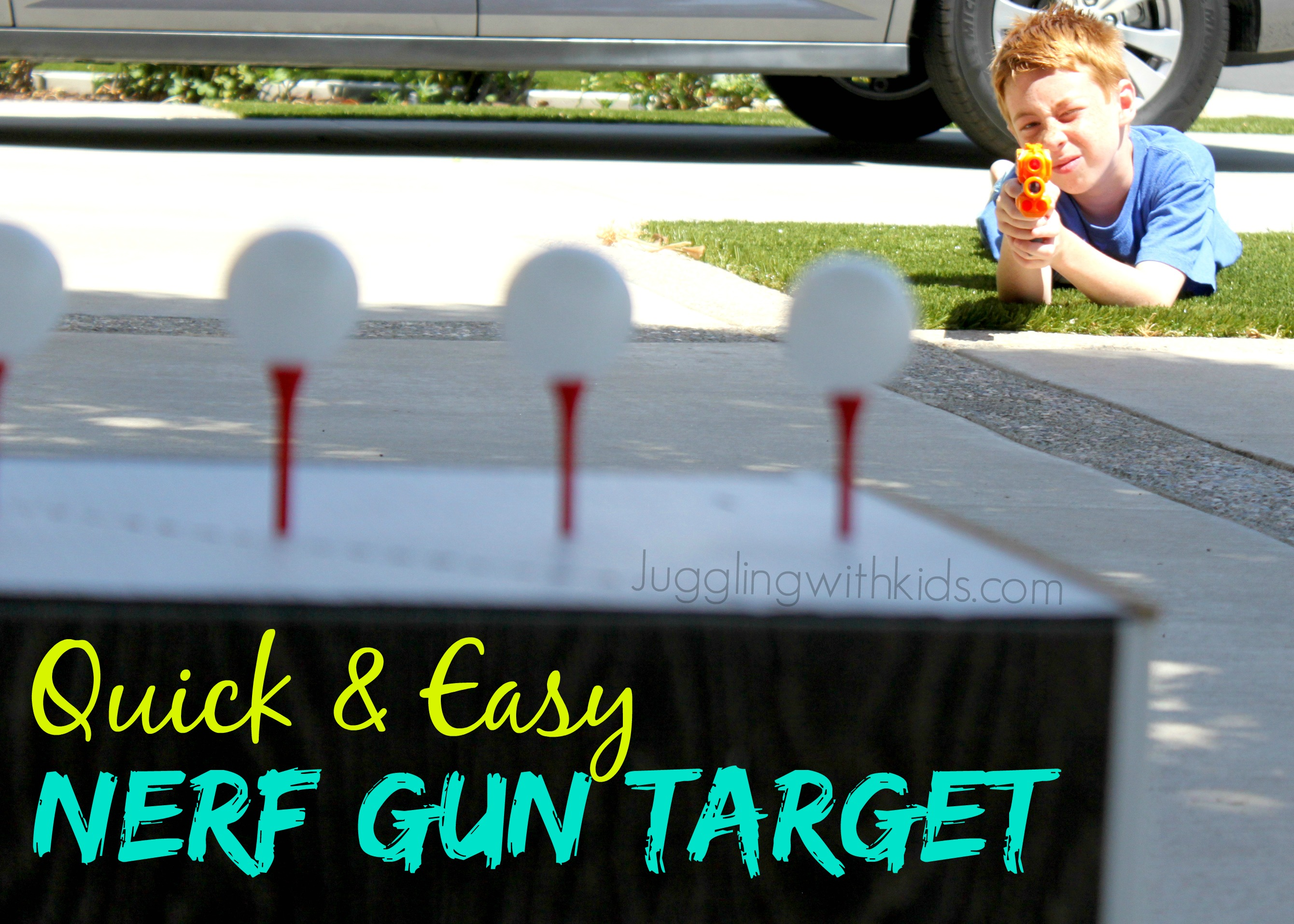 My son loves playing with Nerf Guns…so we decided to make a simple Nerf Gun  target for him to play with. I found the idea on Pinterest one day when I  came ...